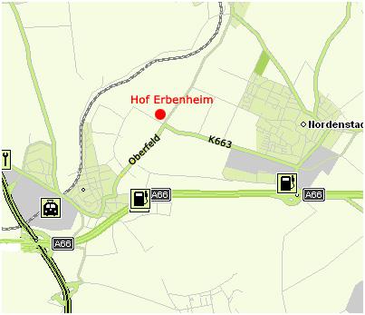 Ihr Weg zum Hof Erbenheim